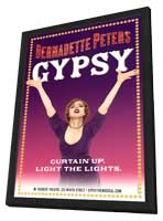 Gypsy (Broadway) - 14 x 22 Poster - Style A - in Deluxe Wood Frame