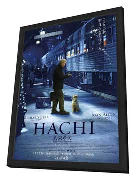 Hachiko: A Dog's Story - 11 x 17 Movie Poster - Japanese Style A - in Deluxe Wood Frame