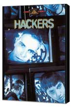 Hackers - 27 x 40 Movie Poster - Style C - Museum Wrapped Canvas