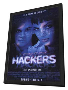 Hackers - 11 x 17 Movie Poster - Style A - in Deluxe Wood Frame