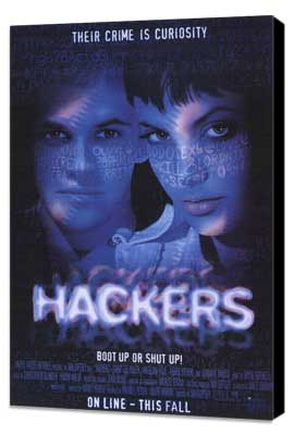 Hackers - 27 x 40 Movie Poster - Style A - Museum Wrapped Canvas