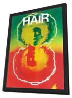 Hair (Broadway) - 11 x 17 Poster - Style A - in Deluxe Wood Frame