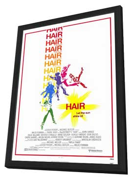 Hair - 27 x 40 Movie Poster - Style A - in Deluxe Wood Frame
