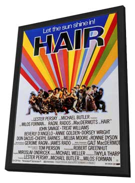 Hair - 11 x 17 Poster - Foreign - Style A - in Deluxe Wood Frame