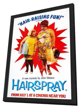 Hairspray - 11 x 17 Movie Poster - Style C - in Deluxe Wood Frame