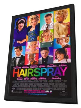 Hairspray - 11 x 17 Movie Poster - Style B - in Deluxe Wood Frame