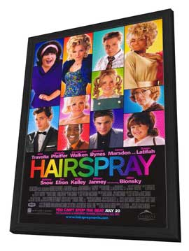 Hairspray - 27 x 40 Movie Poster - Style B - in Deluxe Wood Frame