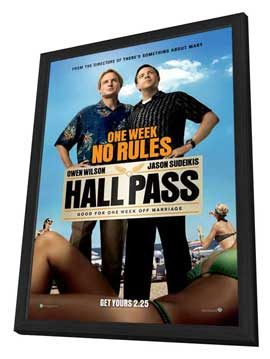 Hall Pass - 11 x 17 Movie Poster - Style A - in Deluxe Wood Frame