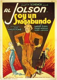 Hallelujah, I'm a Bum - 11 x 17 Movie Poster - Spanish Style A