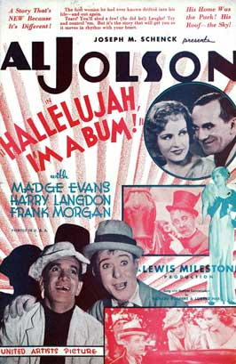 Hallelujah, I'm a Bum - 27 x 40 Movie Poster - Style A