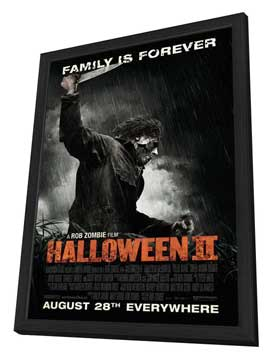 Halloween 2 - 11 x 17 Movie Poster - Style C - in Deluxe Wood Frame