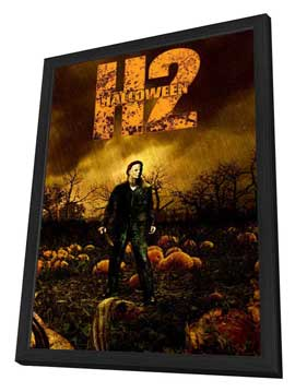 Halloween 2 - 11 x 17 Movie Poster - Style E - in Deluxe Wood Frame