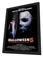 Halloween 5: The Revenge of Michael Myers - 11 x 17 Movie Poster - Style A - in Deluxe Wood Frame