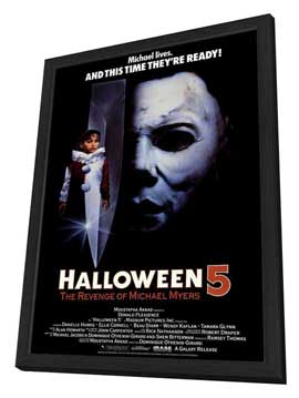 Halloween 5: The Revenge of Michael Myers - 27 x 40 Movie Poster - Style A - in Deluxe Wood Frame