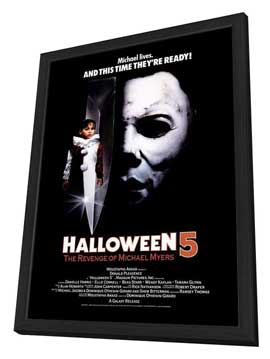 Halloween 5: The Revenge of Michael Myers - 27 x 40 Movie Poster - Style B - in Deluxe Wood Frame