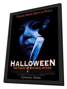 Halloween 6: The Curse of Michael Myers - 27 x 40 Movie Poster - Style A - in Deluxe Wood Frame