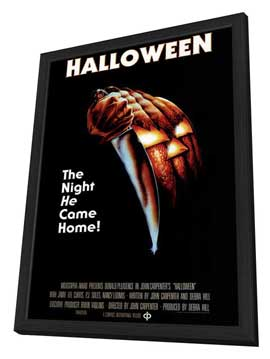 Halloween - 11 x 17 Movie Poster - Style D - in Deluxe Wood Frame