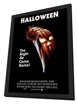 Halloween - 27 x 40 Movie Poster - Style D - in Deluxe Wood Frame