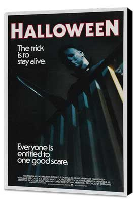 Halloween - 11 x 17 Movie Poster - Style B - Museum Wrapped Canvas