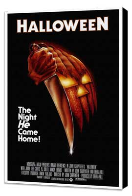 Halloween - 27 x 40 Movie Poster - Style A - Museum Wrapped Canvas