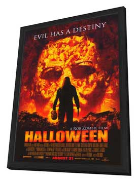 Halloween - 11 x 17 Movie Poster - Style A - in Deluxe Wood Frame