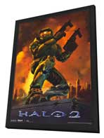 Halo 2 - 11 x 17 Video Game Poster - Style B - in Deluxe Wood Frame