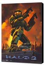 Halo 2 - 11 x 17 Video Game Poster - Style B - Museum Wrapped Canvas