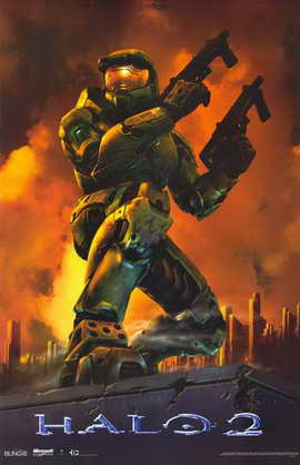 Halo 2 - 11 x 17 Video Game Poster - Style B