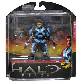 Halo 2 - Reach Series 6 Kat Unhelmeted Action Figure