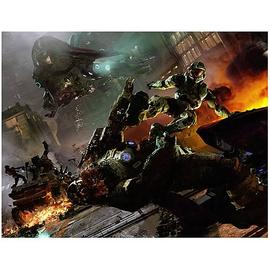 Halo 2 - Boarding Framed Canvas Giclee Print