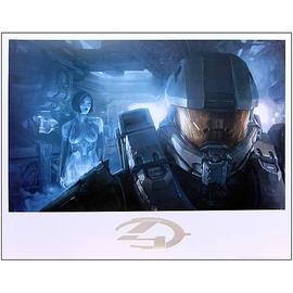 Halo 2 - 4 Master Chief and Cortana Guardian Lithograph Print