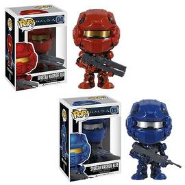 Halo 2 - 4 Red and Blue Spartan Warrior Pop! Vinyl Set