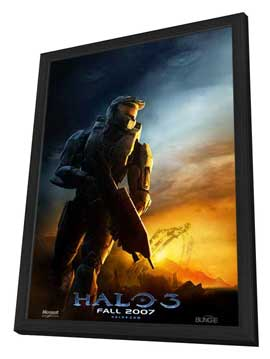 Halo 3 - 11 x 17 Movie Poster - Style B - in Deluxe Wood Frame