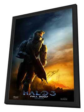 Halo 3 - 27 x 40 Movie Poster - Style B - in Deluxe Wood Frame
