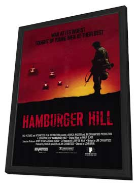 Hamburger Hill - 27 x 40 Movie Poster - Style B - in Deluxe Wood Frame