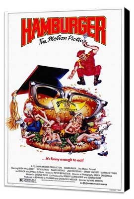 Hamburger. . .The Motion Picture - 11 x 17 Movie Poster - Style B - Museum Wrapped Canvas