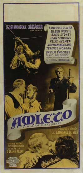 Hamlet - 13 x 28 Movie Poster - Italian Style A