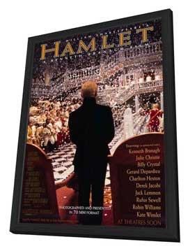 Hamlet - 27 x 40 Movie Poster - Style A - in Deluxe Wood Frame