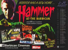 Hammer Film Productions Limited - 11 x 17 Movie Poster - Style A