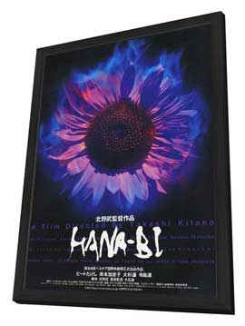 Hana-bi - 27 x 40 Movie Poster - Japanese Style B - in Deluxe Wood Frame