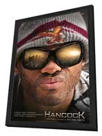 Hancock - 27 x 40 Movie Poster - Style A - in Deluxe Wood Frame
