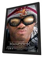 Hancock - 27 x 40 Movie Poster - Style C - in Deluxe Wood Frame