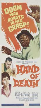 Hand of Death - 14 x 36 Movie Poster - Insert Style A