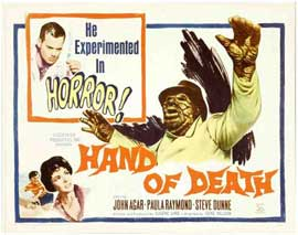 Hand of Death - 22 x 28 Movie Poster - Half Sheet Style A