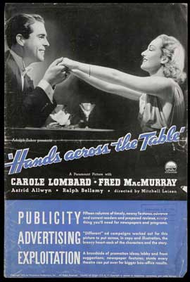 Hands Across the Table - 11 x 17 Movie Poster - Style A