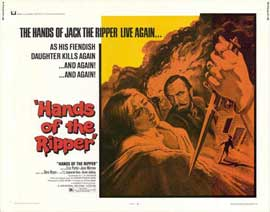 Hands of the Ripper - 22 x 28 Movie Poster - Half Sheet Style A