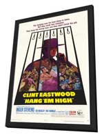 Hang 'Em High - 11 x 17 Movie Poster - Style A - in Deluxe Wood Frame