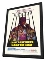 Hang 'Em High - 27 x 40 Movie Poster - Style A - in Deluxe Wood Frame