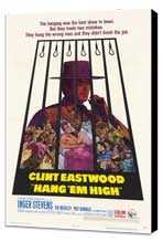 Hang 'Em High - 27 x 40 Movie Poster - Style A - Museum Wrapped Canvas