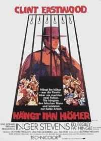 Hang 'Em High - 11 x 17 Movie Poster - German Style B